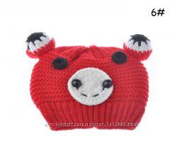 Теплая шапочка для малышки 6-12 мес. , все цвета в наличии