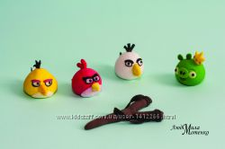 Angry Birds из мастики