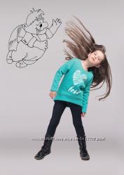 Детский утеплённый джемпер Сердечко ментоловый для девочки