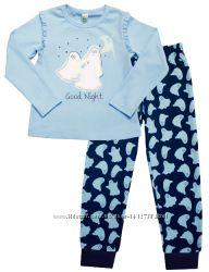 Пижама утеплённая для девочки с привидениями светится в темноте