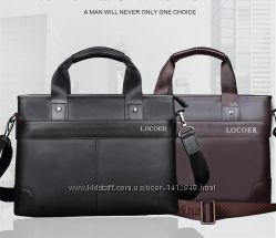Кожаная мужская сумка LOCOER Отличное качество