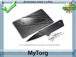 Складной нож трансформер cardsharp, нож-кредитка