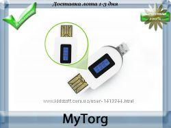 Micro usb кабель с встроенным дисплеем  тестер