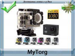 Экшн камера sports cam full hd 1080p wi-fi. водонепроницаемая