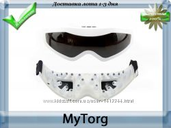 Массажер для глаз с блоком питания, массажные очки