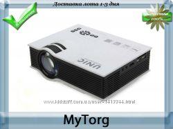 Портативный 3d проектор unic uc40 для домашнего кинотеатра мультимедиа full