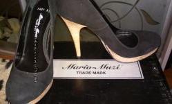 Замшевые натуральные туфли,  Mario Muzi