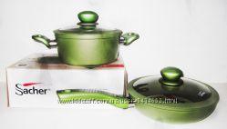 Набор кастрюля Sacher 20 см и сковорода с антипригарным покрытием
