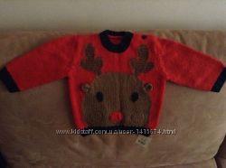Новый новогодний свитер George на 6-12 мес