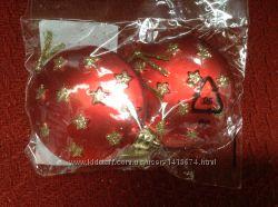Новые новогодние полувыпуклые шарики Carrefour Франция