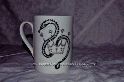 Чашка з змією, інкрустація стразами