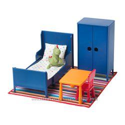 Детская кукольная мебель спальня Huset Ikea, Хусет Икеа