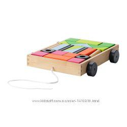 Тележка с 24 кубиками Mula Ikea, Мула Икеа