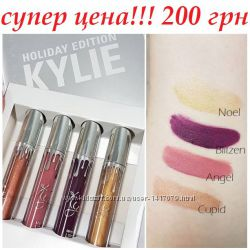 Жидкая матовая помада KYLIE Matte Holiday Edition 4 шт