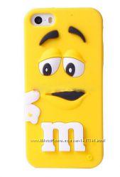 чехол на iphone 5 M&M&acutes жёлтый