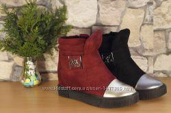 Женские сникерсы ботинки в 2-х цветах