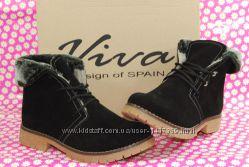 Женские зимние ботинки Viva Вива замша