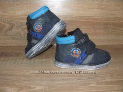 Детские ботинки деми, синий цвет, кожзам