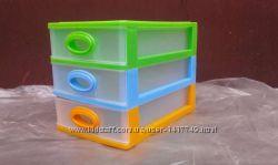 Комодик-мини пластиковый канцелярский