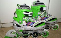 Роликовые коньки  Maraton Color M9005  светится колесо 31-34