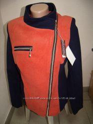 Пальто женское кашемировое косуха на молнии К-709 размер 46, 48