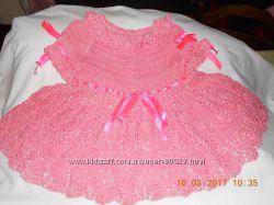 Новое вязаное яркое платье