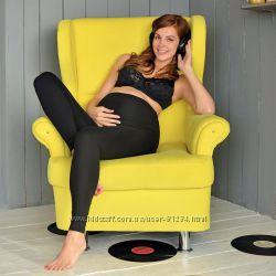 Эластичные Хлоповые и очень мягкие леггинсы арт. 635 для беременных .