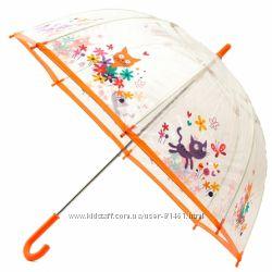 Стильный прозрачный зонтик с Котиком. Гарантия 6 мес