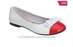 Туфли балетки лак