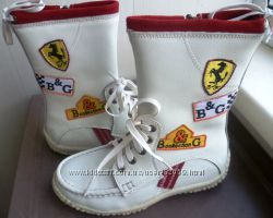 Сапоги белые B&G Ferrari