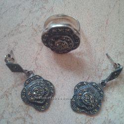 Комплект серебро с почернением