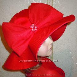 Летняя шляпка для девочки Красная шапочка