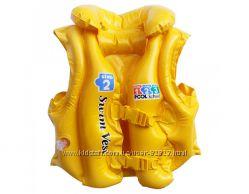 Intex 58660, надувной жилет для плавания, 50-47см