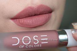 Знаменита матова помада Dose of Colors Liquid Matte Lipstick. Оригінал. США