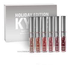 Kylie Birthday Edition HOLIDAY - набор матовых помад лимитка