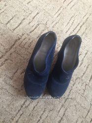 Синие замшевые туфли 36р Kelton