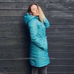 Примерка Слингокуртка, зимняя куртка для беременных