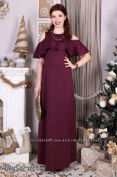 Длинные нарядные платья для беременных и кормящих