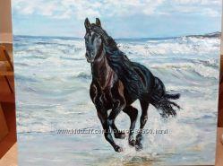 Картина Бегущий конь 5060см, холст, масло