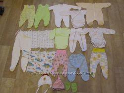 Вещи для новорожденных 56р в идеальном состоянии одним пакетом или поштучно