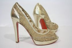 Оригинал Италия золотые туфельки Baldinini 37 р