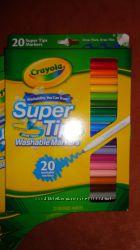 Смывающиеся фломастеры маркеры Crayola 20 шт Оригинал в наличии