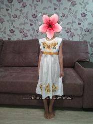 Сарафан платье с вышивкой Подсолнух