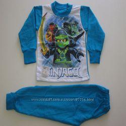 Пижамки с начесом для мальчиков и девочек с любимыми героями все разм. в на