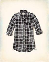 рубашки на лето клетка AbercrombieFitch, Нollister, Gilly Hickе оригинал