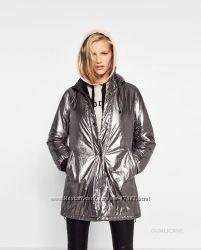 Куртка-парка серебро